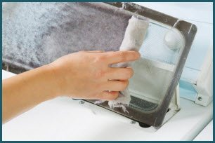 Grab the lint from your dryer and store it in a zip lock bag