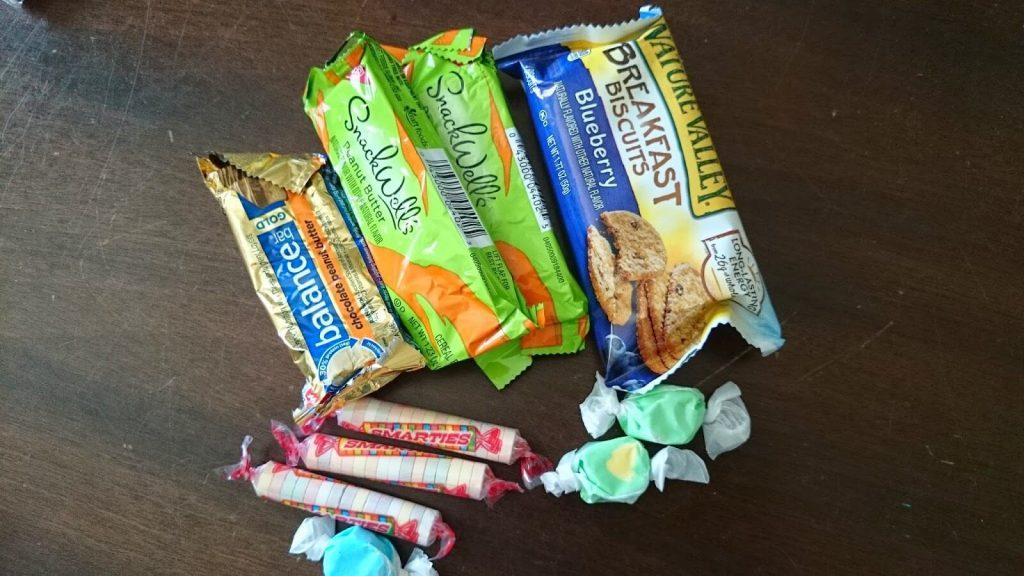 Snacks for 72 hour kit