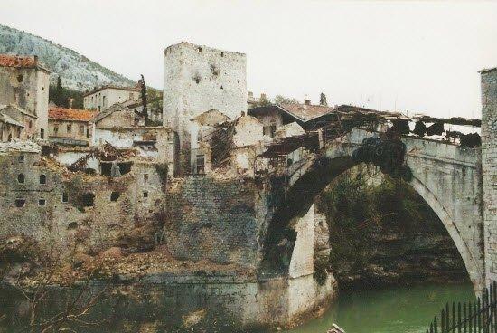 Mostar during the Bosnian War, 1993