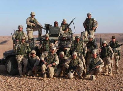 A British Military Troop in Iraq.