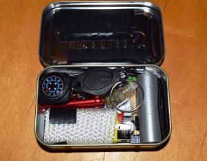Lighter and LED inside Tin