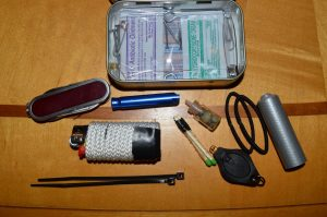 Putting other items in tin kit