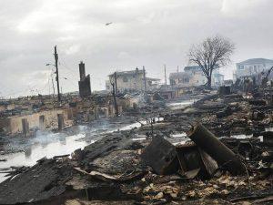 Dusk after Hurricane Sandy