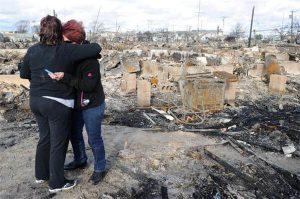 Surveying Damage after Hurricane Sandy