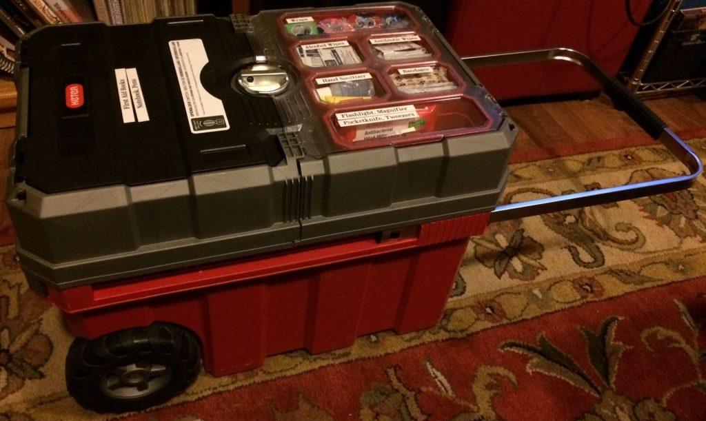 Big Rolling First Aid Kit - DIY Preparedness