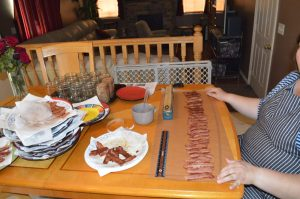 Lay bacon on parchment paper