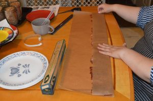 Fold parchment paper over