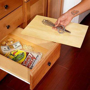 Fake bottom on drawer