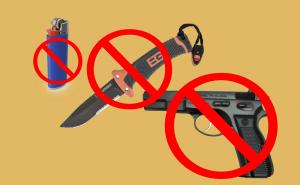 Confiscated - Lighter Knife & Gun - DIY Prepareness - Emergency Lanyards