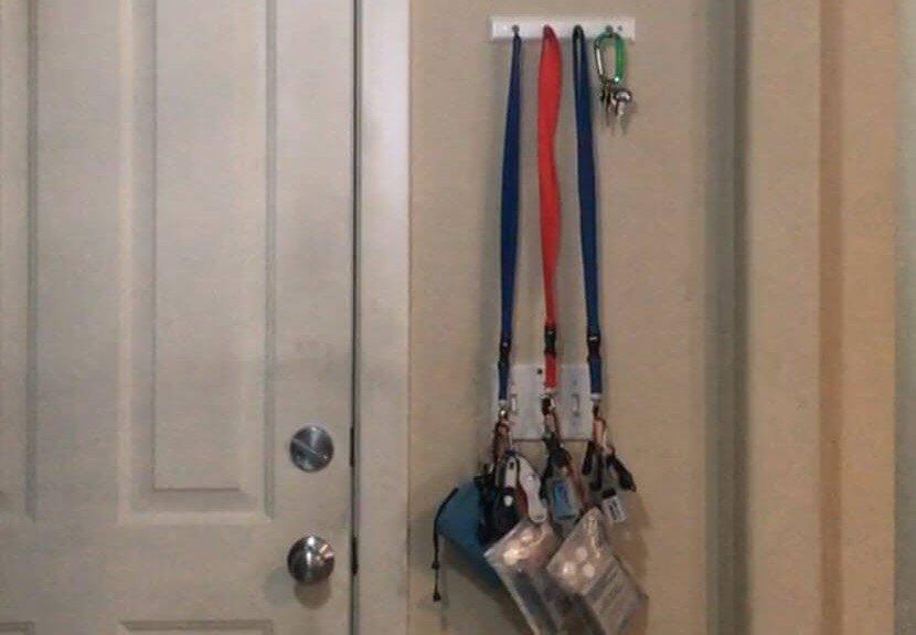 Hanging by door - Emergency Lanyards